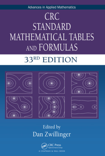 Cover art for CRC Standard Mathematical Tables and Formulas, 33rd Edition