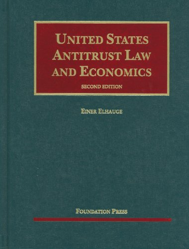 United States Antitrust Law and Economics  2nd 2012 (Revised) edition cover