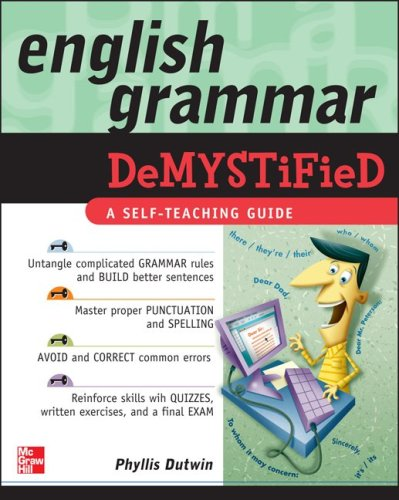 English Grammar A Self-Teaching Guide  2010 (Teachers Edition, Instructors Manual, etc.) edition cover