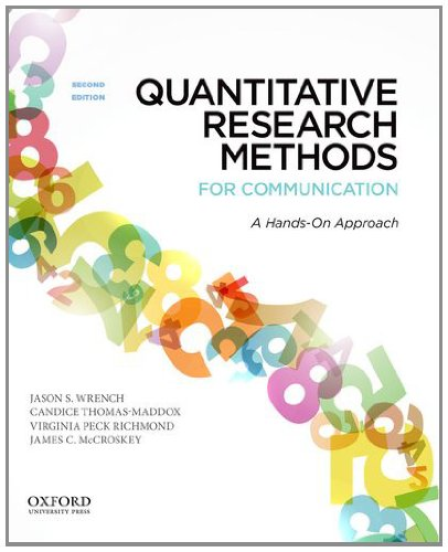Quantitative Research Methods for Communication A Hands-On Approach 2nd 2012 edition cover