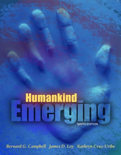 Humankind Emerging  9th 2006 (Revised) 9780205423804 Front Cover