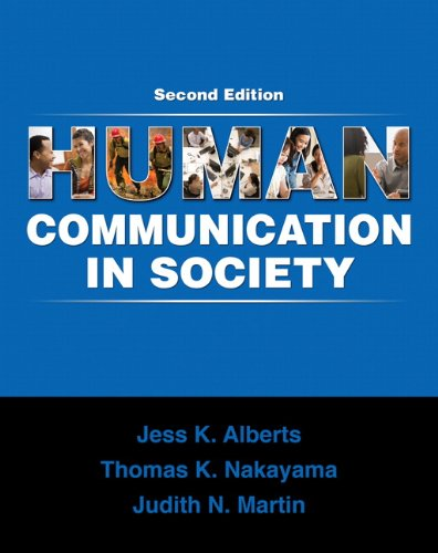 Human Communication in Society  2nd 2010 edition cover