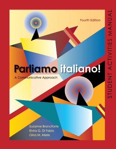 Parliamo Italiano! A Communicative Approach 4th 2011 (Activity Book) edition cover