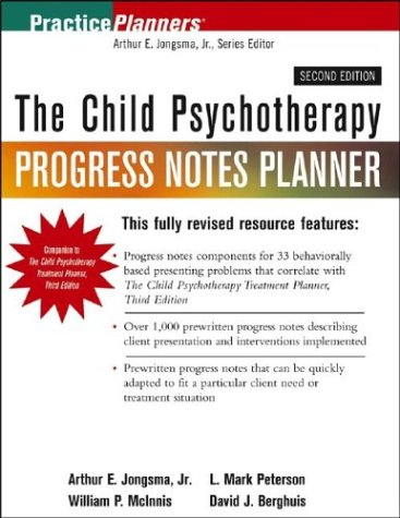 Child Psychotherapy Progress Notes Planner  2nd 2004 (Revised) edition cover