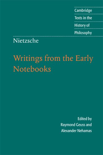 Nietzsche: Writings from the Early Notebooks   2009 edition cover