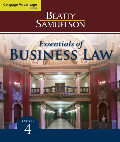 Cengage Advantage Books: Essentials of Business Law  4th 2012 edition cover