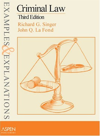 Criminal Law  3rd 2004 (Student Manual, Study Guide, etc.) edition cover