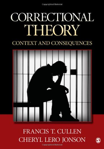 Correctional Theory Context and Consequences  2012 edition cover
