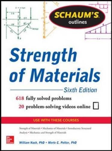Schaum's Outline of Strength of Materials:   2013 edition cover