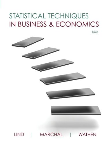 Statistical Techniques in Business and Economics  15th 2012 9780073401805 Front Cover