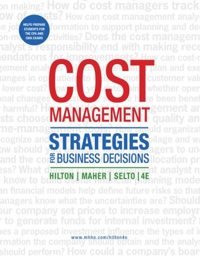 Cost Management Strategies for Business Decisions 4th 2008 edition cover