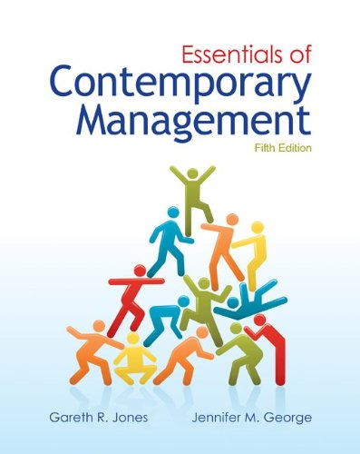 Essentials of Contemporary Management with Connect Plus  5th 2013 edition cover