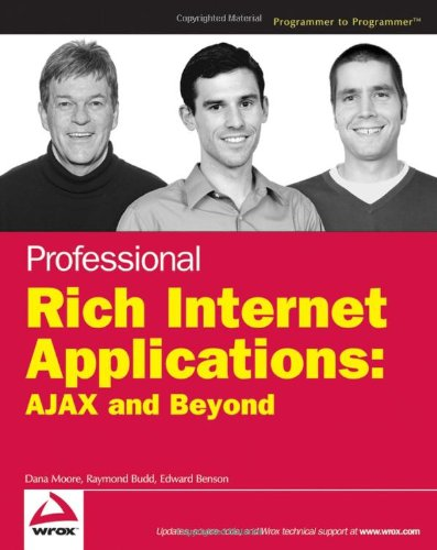 Professional Rich Internet Applications AJAX and Beyond  2007 9780470082805 Front Cover