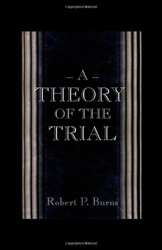 Theory of the Trial   1999 edition cover