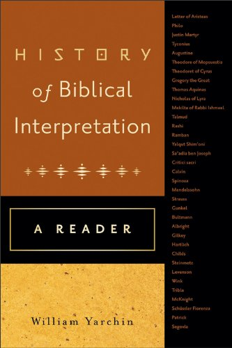History of Biblical Interpretation A Reader N/A edition cover