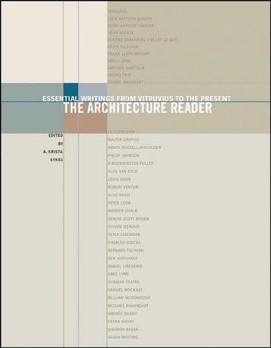 Architecture Reader Essential Writings from Vitruvius to the Present  2007 edition cover