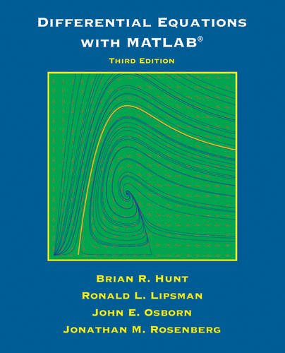 Differential Equations with Matlab  3rd 2012 edition cover