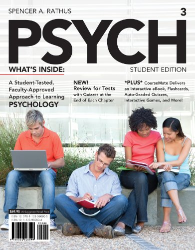 Psych  3rd 2014 (Student Manual, Study Guide, etc.) 9781133960805 Front Cover