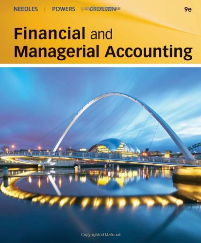 Financial and Managerial Accounting  9th 2011 edition cover