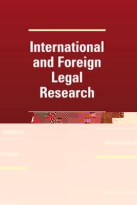 International and Foreign Legal Research A Coursebook 2nd 2012 edition cover