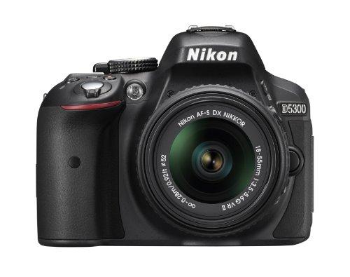 Nikon D5300 24.2 MP CMOS Digital SLR Camera with 18-55mm f/3.5-5.6G ED VR Auto Focus-S DX NIKKOR Zoom Lens (Black) product image