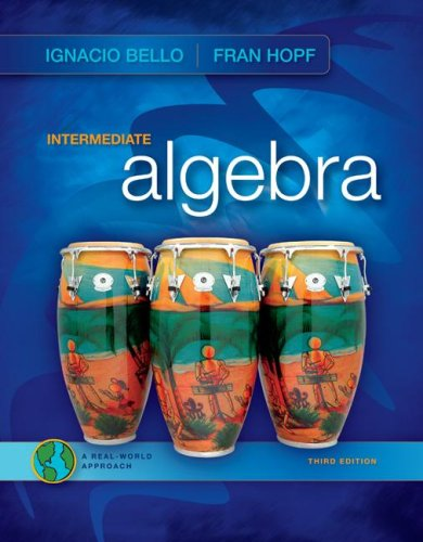 Intermediate Algebra  3rd 2009 9780077224806 Front Cover