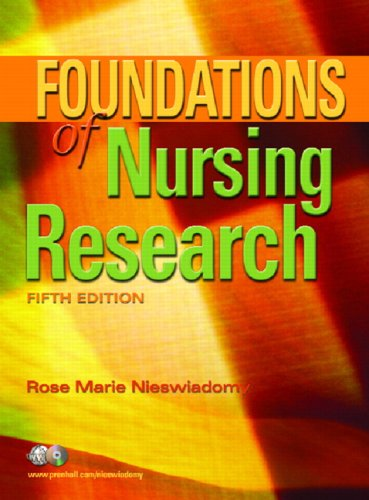 Foundations of Nursing Research  5th 2008 edition cover