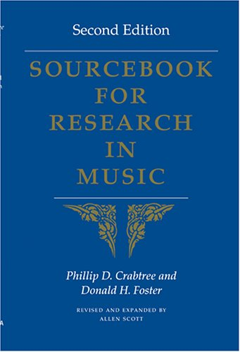 Sourcebook for Research in Music  2nd 2005 edition cover