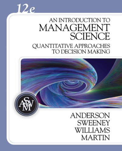 Introduction to Management Science Quantitative Approaches to Decision Making 12th 2008 edition cover