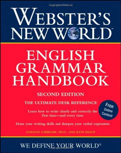 Webster's New World English Grammar Handbook  2nd 2009 (Handbook (Instructor's)) edition cover