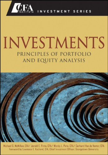 Investments Principles of Portfolio and Equity Analysis  2011 edition cover
