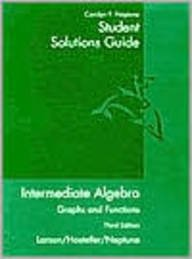 Intermediate Algebra Graphs and Functions 3rd 2003 (Guide (Pupil's)) 9780618218806 Front Cover