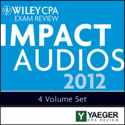 Wiley Cpa Exam Review 2012 Impact Audios Set:   2012 edition cover