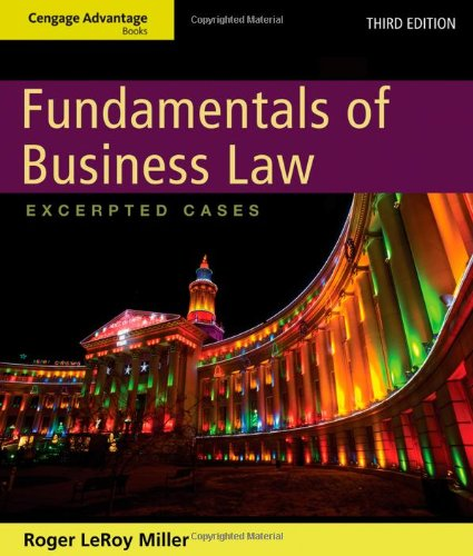 Fundamentals of Business Law Excerpted Cases 3rd 2013 edition cover