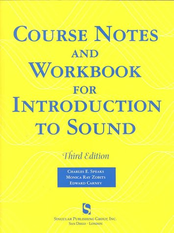 Introduction to Sound  3rd 1999 edition cover