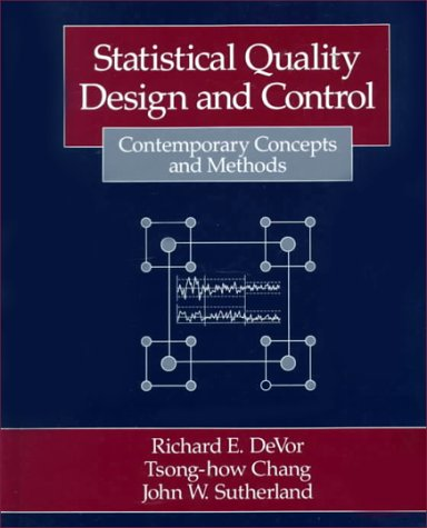 Statistical Quality Design and Control Contemporary Concepts and Methods  1992 9780023291807 Front Cover