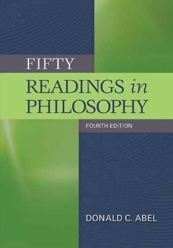 Fifty Readings in Philosophy  4th 2012 edition cover
