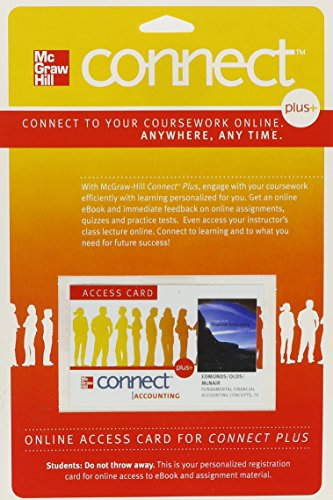 Fundamental Financial Accounting Concepts Connect Plus Access Card:   2010 edition cover