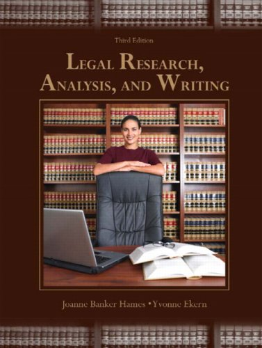 Legal Research, Analysis, and Writing  3rd 2009 edition cover