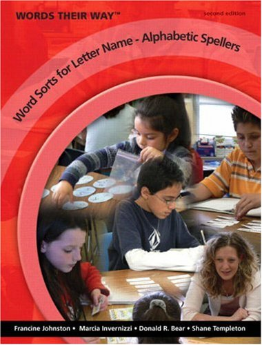Word Sorts for Letter Name - Alphabetic Spellers  2nd 2009 edition cover