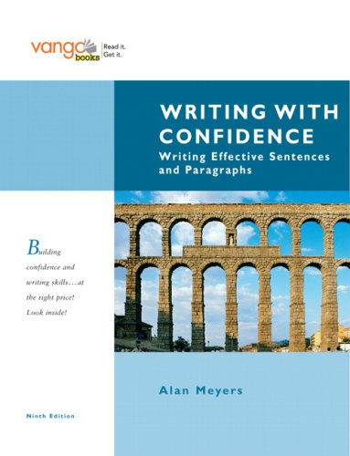 Writing with Confidence Writing Effective Sentences and Paragraphs 9th 2009 edition cover