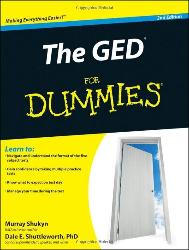 GED for Dummies  2nd 2010 edition cover