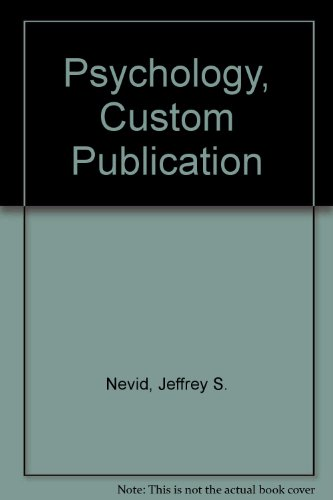Psychology Paperback Custom Publication 2nd 2007 9780618802807 Front Cover
