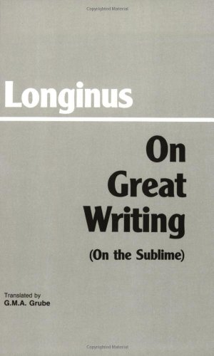 On Great Writing (on the Sublime)  Reprint  edition cover