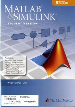 MATLAB+SIMULINK R2010A,STUD.VERS.-W/DVD N/A 9780982583807 Front Cover