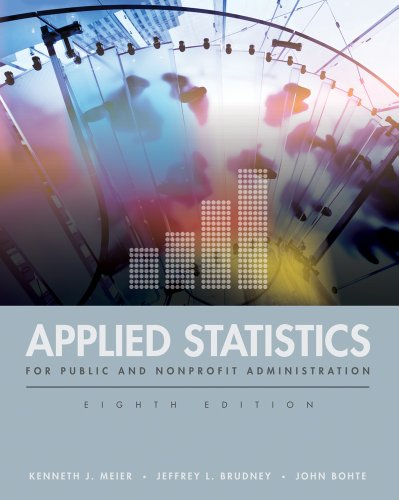 Applied Statistics for Public and Nonprofit Administration  8th 2012 edition cover