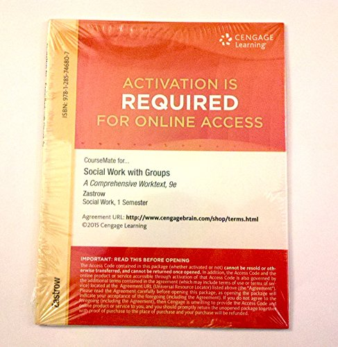 SOCIAL WORK WITH GROUPS:COMP..-ACCESS   N/A edition cover