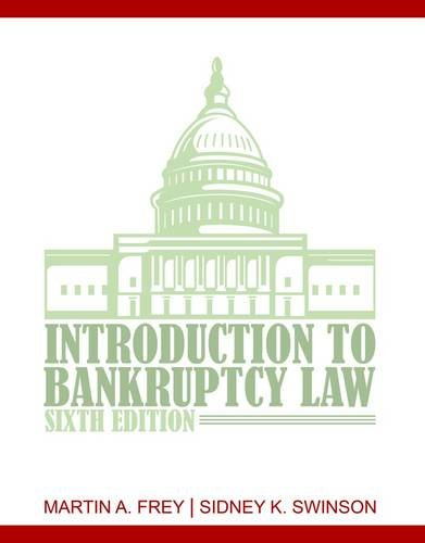 Introduction to Bankruptcy Law  6th 2013 edition cover