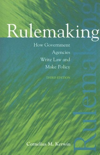 Rulemaking How Government Agencies Write Law and Make Policy 3rd 2003 (Revised) edition cover
