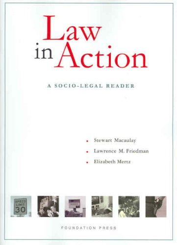 Law in Action A Socio-Legal Reader N/A edition cover